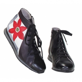 SNEAKERS ACQUERELLO BLACK FIORE