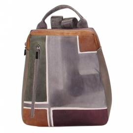 BUSINESS TAUPE GEOMETRICO BACKPACK