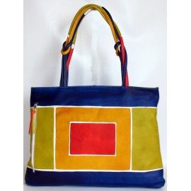 ACQUERELLO BLUE ART HANDBAG