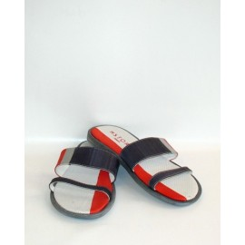 MAN SLIPPERS RED/SILVER/BLACK