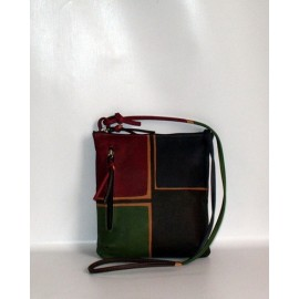 ACQUERELLO MARRONE QUADRI BAG