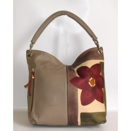 ACQUERELLO TAUPE FIORE BAG
