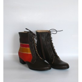 BROWN ALBA ANKLE BOOTS