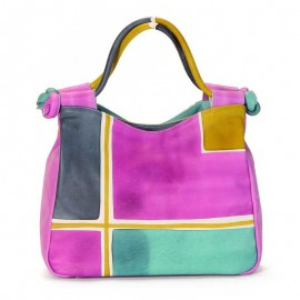 HANDBAG ACQUERELLO ICE GEOMETRICO