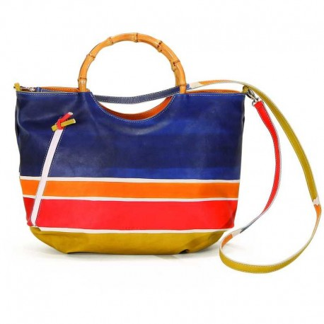 HANDBAG ACQUERELLO BLU ALBA