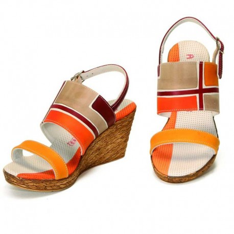 WEDGE SANDALS ACQUERELLO DUNE GEOMETRICO