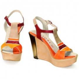 WEDGE SANDALS ACQUERELLO DUNE ALBA