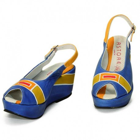 SANDALS ACQUERELLO BLU ART