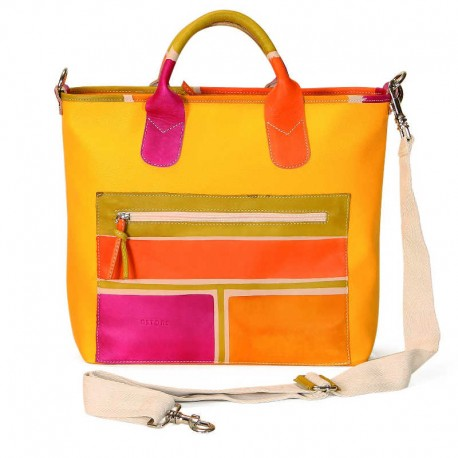 HANDBAG SOLAR GIALLO AVORIO BETA