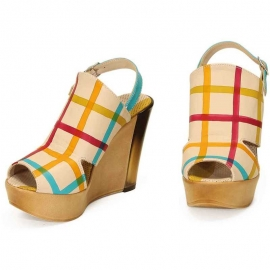WEDGE SANDALS ACQUERELLO CREMA RETE