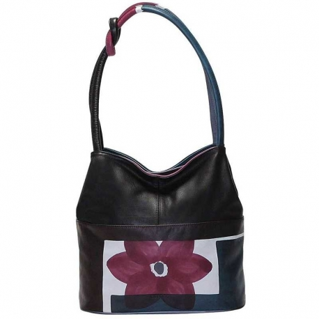 HANDBAG ACQUERELLO WINE FIORE