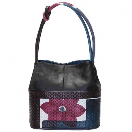 HANDBAG ACQUERELLO GRATA WINE FIORE