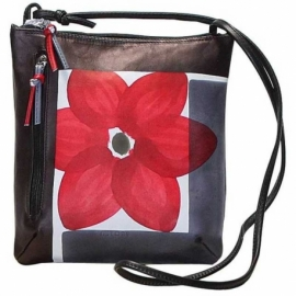 ACROSS BODY BAG ACQUERELLO BLACK FIORE