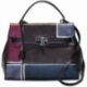 HANDBAG ACQUERELLO WINE GEOMETRICO