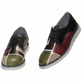 MAN SHOES CAMOUFLAGE SQUARE