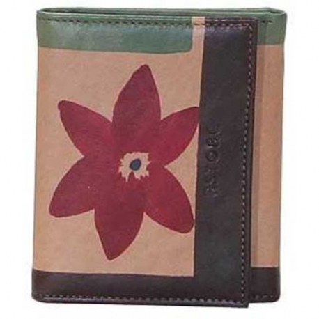 WALLET MARRONE FIORE