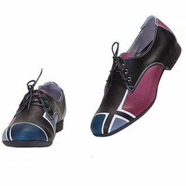 SHOES ACQUERELLO WINE GEOMETRICO