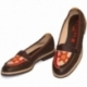 MOCASSINO ACQUERELLO BROWN FIORE