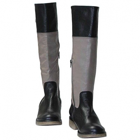 BOOTS TAUPE AND NERO