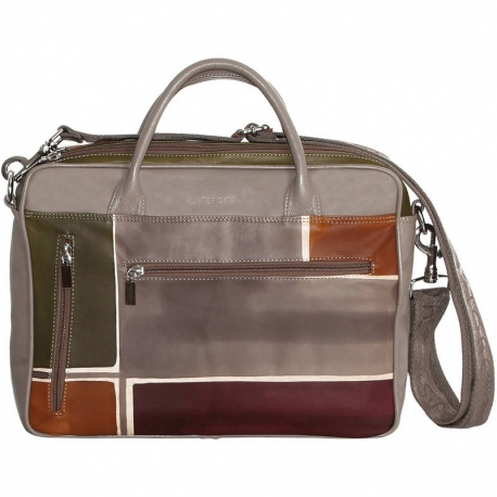 BUSINESS TAUPE GEOMETRICO ACROSS BODY BAG 2