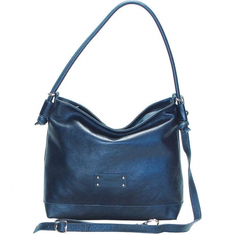 BORSA CITY VITELLO BLU