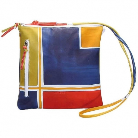 ACQUERELLO BLU GEOMETRICO ACROSS BODY BAG