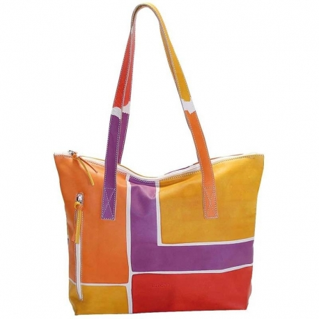 ACQUERELLO PLATINO SQUARE HANDBAG