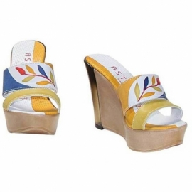 ACQUERELLO BLU RAMO WEDGE SANDALS
