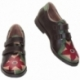 SNEAKERS ACQUERELLO MARRONE FIORE