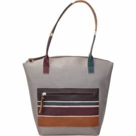 WINTER PLATINO TAUPE ALBA HANDBAG