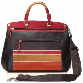 WINTER BROWN TESTA DI MORO ALBA HANDBAG