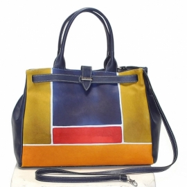 ACQUERELLO BLU SCALA HANDBAG