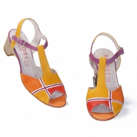 ACQUERELLO PLATINO GEOMETRICO SANDALS