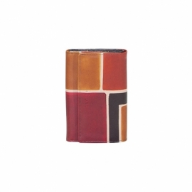 WALLET ACQUERELLO BROWN SQUARE