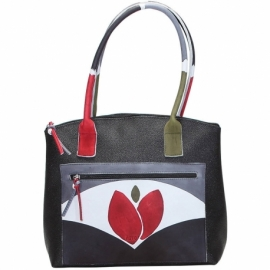 BORSA WINTER NERO TULIPANO