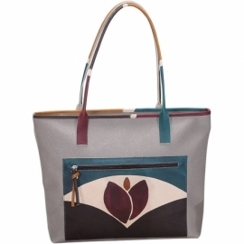 WINTER TAUPE TULIPANO HANDBAG
