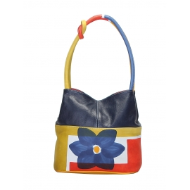 HANDBAG ACQUERELLO BLUE FIORE