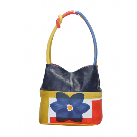 ACQUERELLO BLUE FIORE HANDBAG