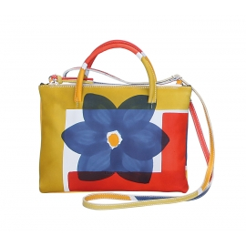 ACQUERELLO BLU FLOWER HANDBAG