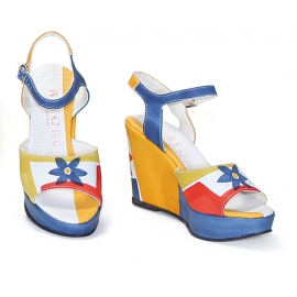 ACQUERELLO BLUE FLOWER SANDALS