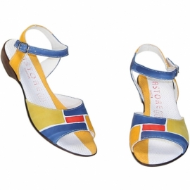 ACQUERELLO BLUE SPIRE SANDALS