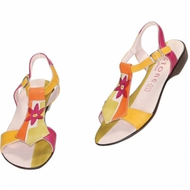 ACQUERELLO AVORIO FIORE SANDALS