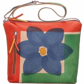 ACQUERELLO NATURALE FIORE ACROSS BODY BAG