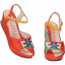 ACQUERELLO NATURALE FIORE SANDALS
