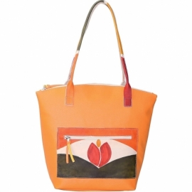SOLAR ORANGE TULIPANO HANDBAG