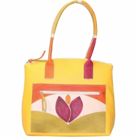 SOLAR YELLOW TULIPANO HANDBAG