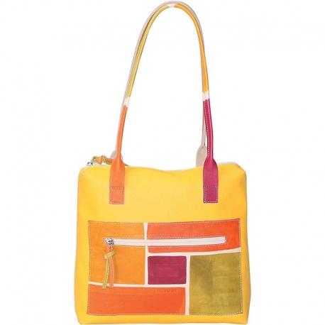 SOLAR YELLOW SPIRE HANDBAG
