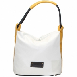 CITY VITELLO GHIACCIO BLACK AND YELLOW SHOULDER BAG