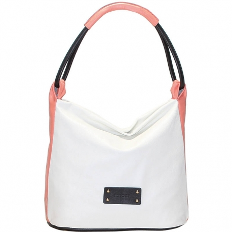 CITY VITELLO GHIACCIO BLACK AND PINK SHOULDER BAG