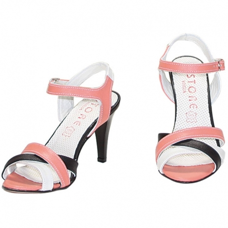 VITELLO GHIACCIO BLACK AND PINK SANDALS